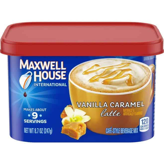 Best Flavored Instant Coffee Maxwell House International Cafe Vanilla Caramel Latte Instant Coffee