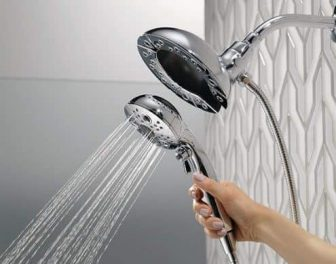 Best Hand-Held Shower Head Delta In2ition H20kinetic Handshower Shower Head