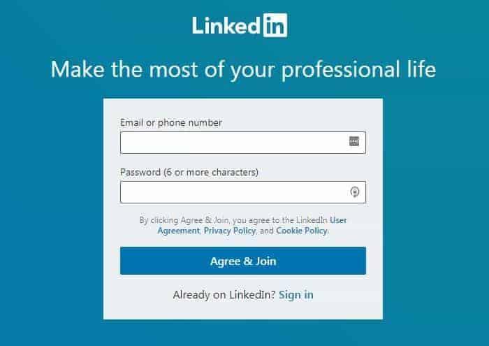 Create Your Account - LinkedIn