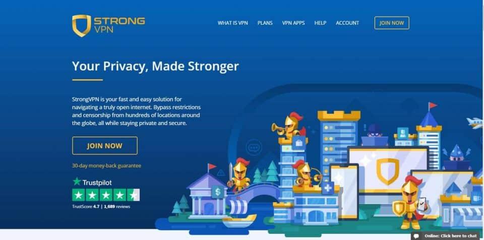 VPN Review StrongVPN